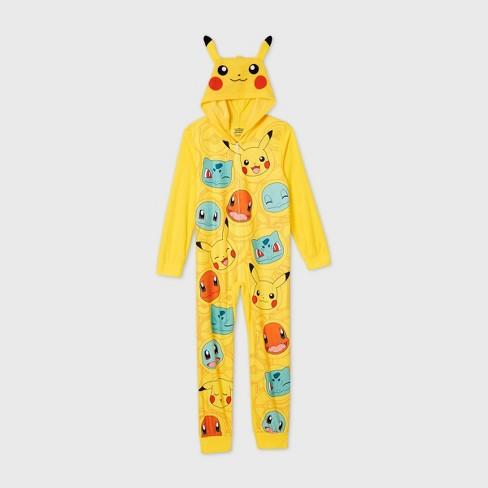 Boys' Pokemon Blanket Sleeper Union Suit - Yellow - image 1 of 2