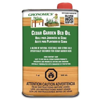 Cedar Garden Bed Oil - Wood - Gronomics