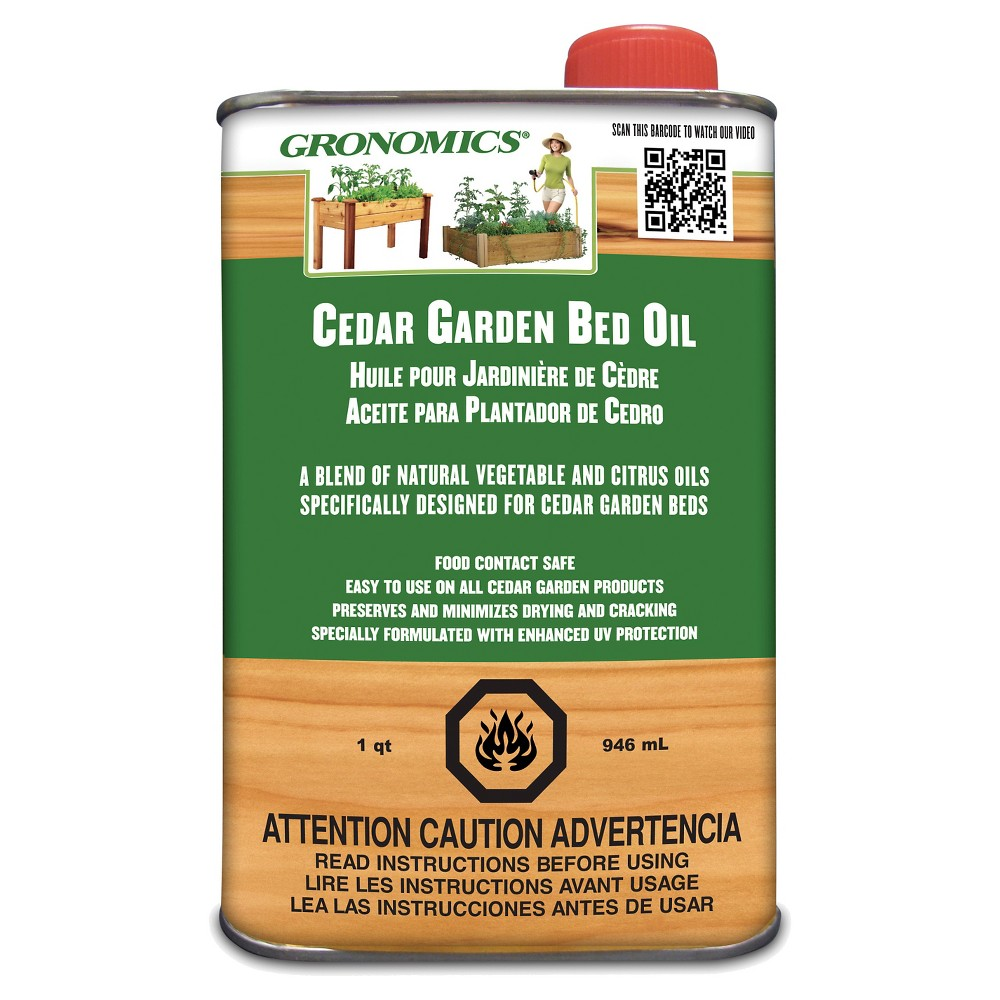Image of Cedar Garden Bed Oil - Wood - Gronomics, Brown