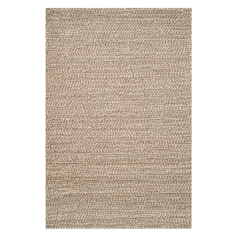 6'X9' Solid Area Rug Gray/Brown - Safavieh