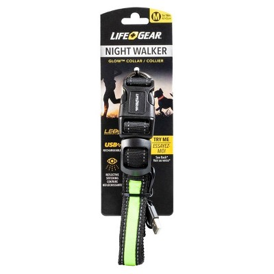 Life+Gear Rechargeable Glow Dog Collar - M