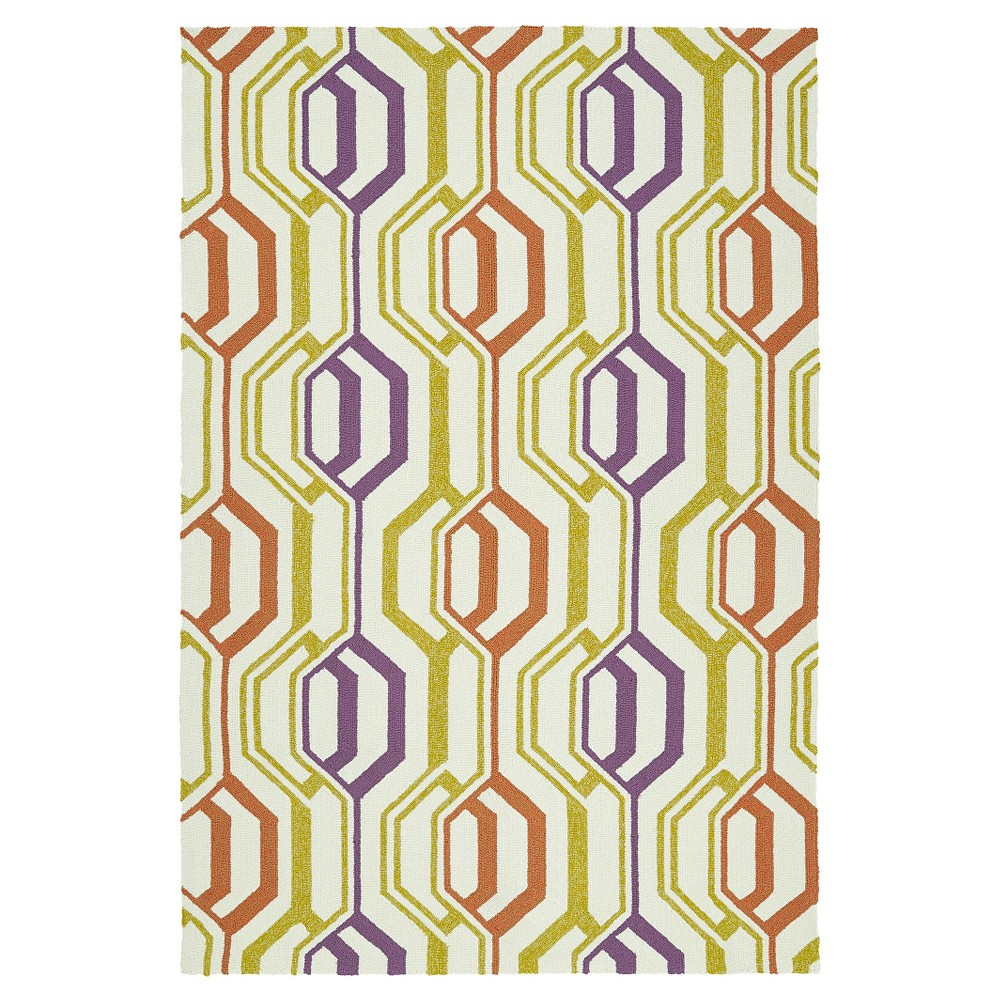 4'X6' Diamond Area Rug - Kaleen Rugs, Multi-Colored