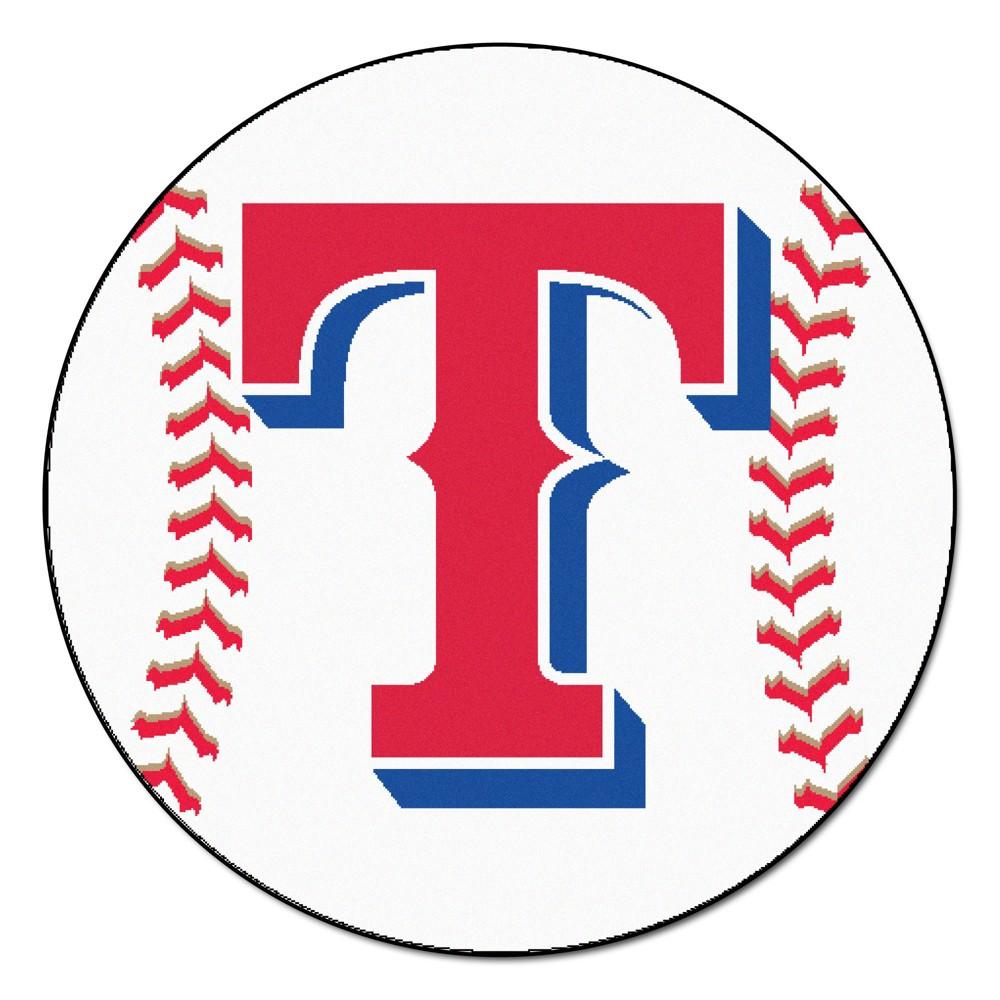 MLB Texas Rangers Baseball Mat 27 Diameter