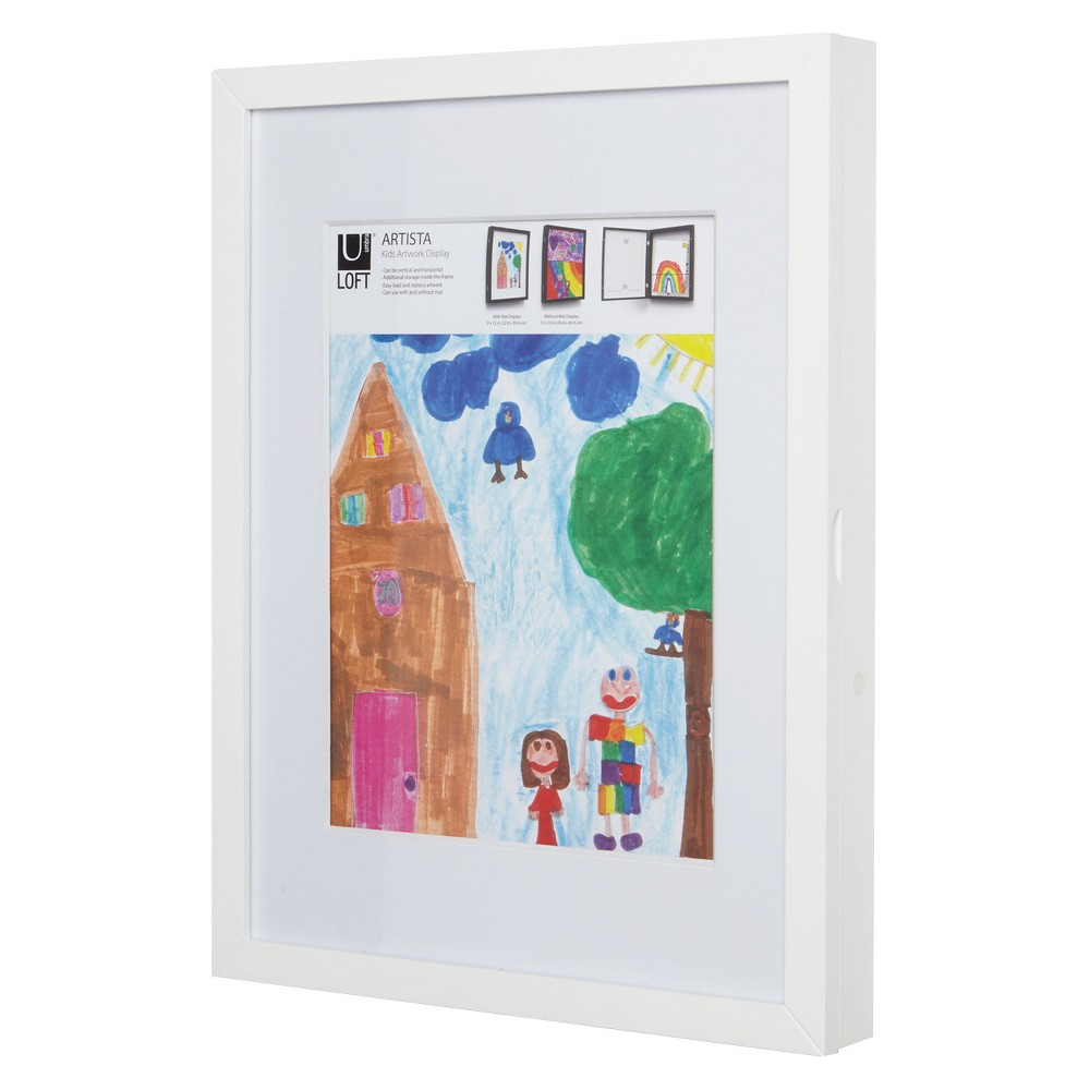 "Image of ""8.5"""" x 11"""" Loft by Umbra Kids Art Display & Storage - White"""