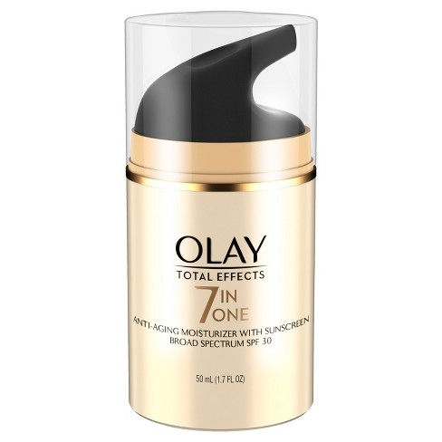 Olay Total Effects 7-in-1 Anti-Aging Daily Moisturizer With SPF 30, 1.7 Fl Oz - image 1 of 3