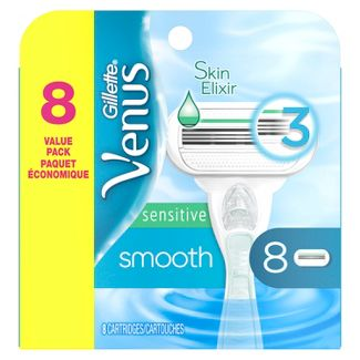 Venus Smooth Sensitive Women's Razor Blade Refills - 8ct