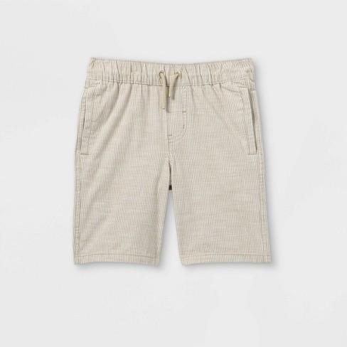 Boys' Twill Pull-On Shorts - Cat & Jack™ Beige - image 1 of 2