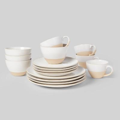 16pc Stoneware Wethersfield Dinnerware Set White - Threshold™