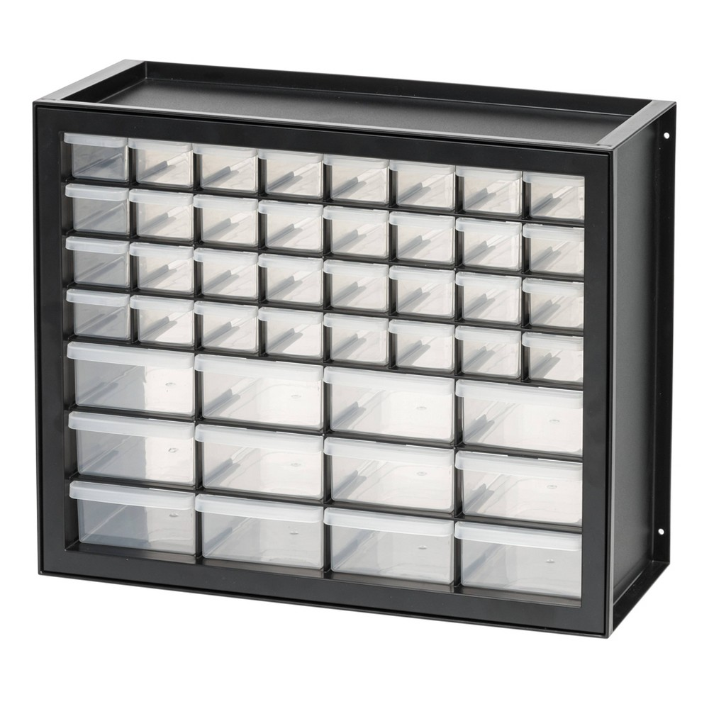 Iris 44 Drawer Parts Cabinet - Black