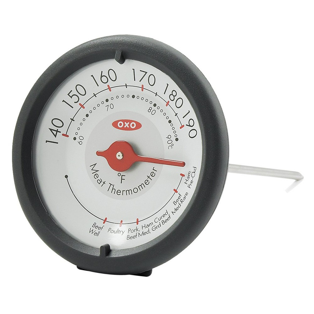 Oxo Analog Leave In Meat Thermometer, Gray