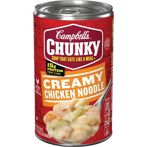 Campbell's Chunky Creamy Chicken Noodle Soup 18.8oz - image 1 of 4