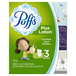 Puffs Plus Lotion Facial Tissue - 3pk /372ct
