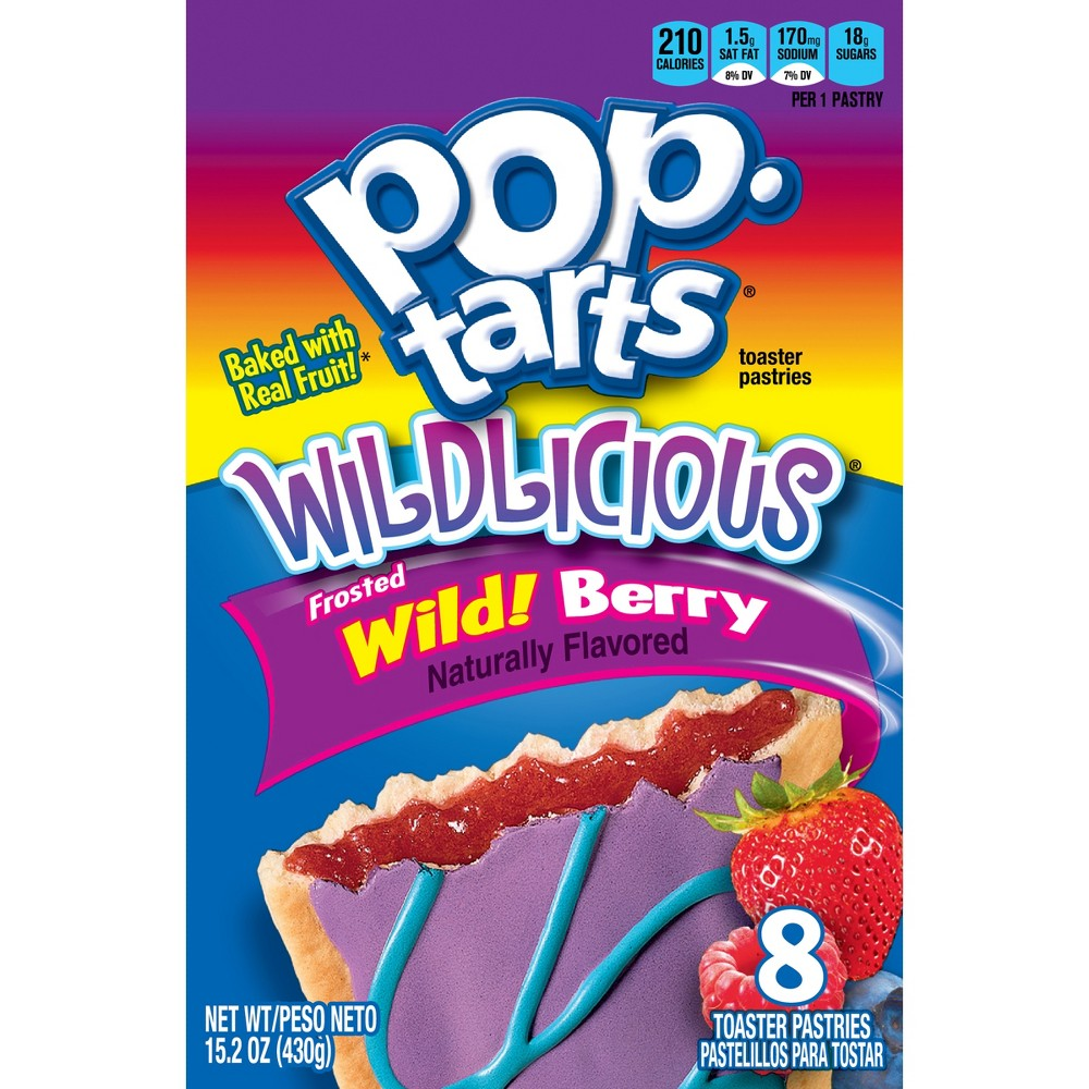Pop-Tarts Wildlicious Frosted Wild Berry Pastries - 8ct/15.2oz - Kellogg's