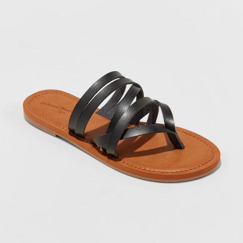 12b2ef2ef Women s Maritza Multi Strap Toe Slide Sandals - Universal Thread™   Target