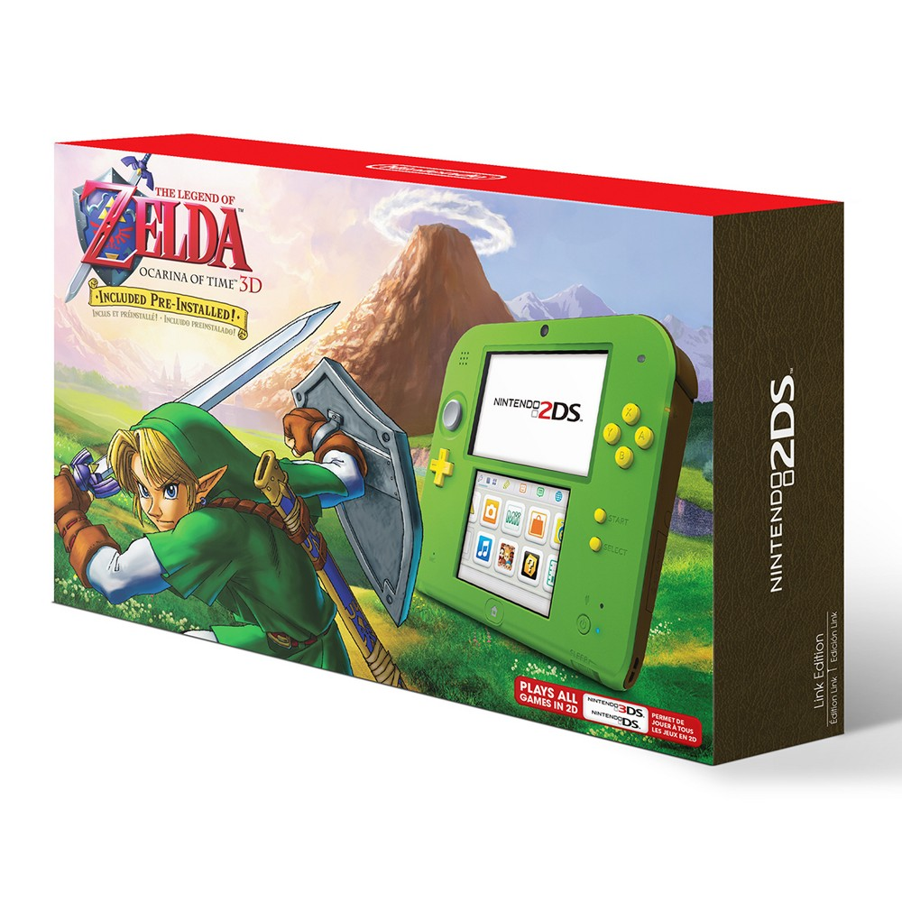 Nintendo 2DS Link Edition with The Legend of Zelda: Ocarina of Time 3D, Multi-Colored