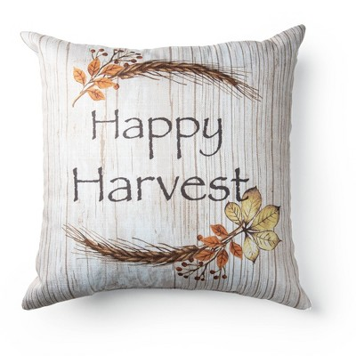 "18""x18"" Happy Harvest Throw Pillow - Sure Fit"