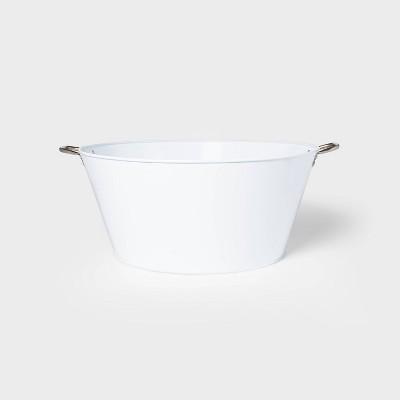 12.2gal Steel Large Beverage Tub White - Sun Squad™