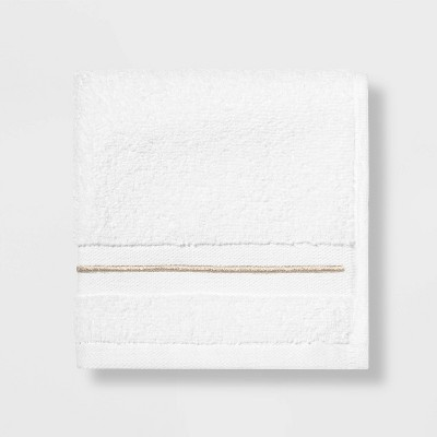Spa Washcloth Taupe Stripe - Threshold Signature™