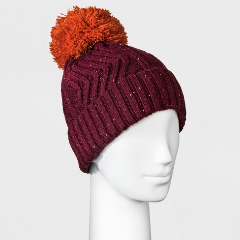 29f70414b69 Women s Fleece Lined Knit Ribbed Pom Beanie - Universal Thread™   Target