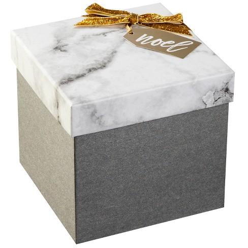 Gray Marble Square Gift Box Kit Wondershop