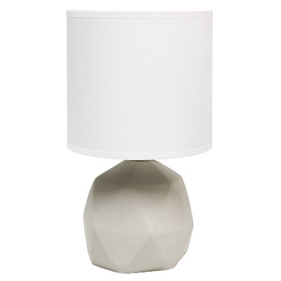 Geometric Concrete Lamp with Shade White - Simple Designs