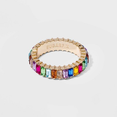 SUGARFIX by BaubleBar Multicolor Crystal Baguette Ring