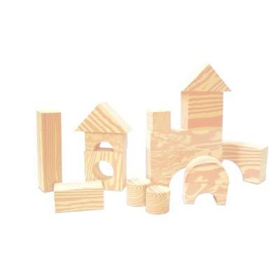 Edushape Wood-like 80 pc Firm Foam Blocks