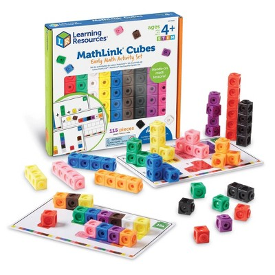 115pc MathLink Cubes Early Math Activity Set - Learning Resources