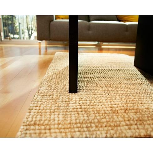 Jute Wool Area Rug Ivory 4 X6 Target