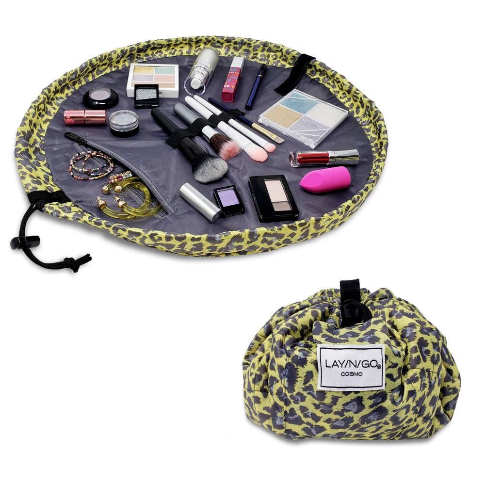 """Image of """"Lay-n-Go COSMO Makeup Bag - 20"""""""" - Leopard"""""""