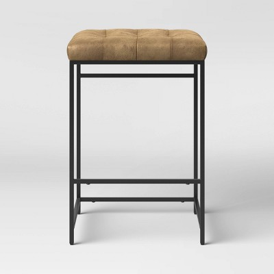 Trubeck Square Metal and Upholstered Counter Height Barstool - Project 62™