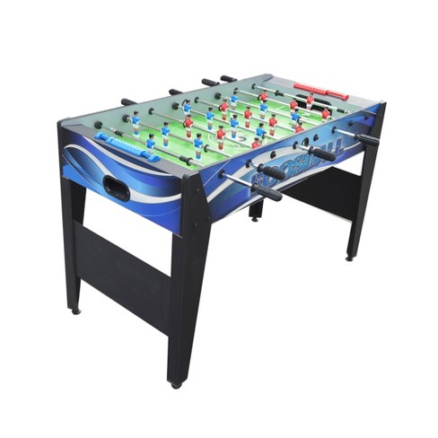 Hathaway Allure 48 Foosball Table With Spring Loaded Telescopic Safety Rods Black Blue