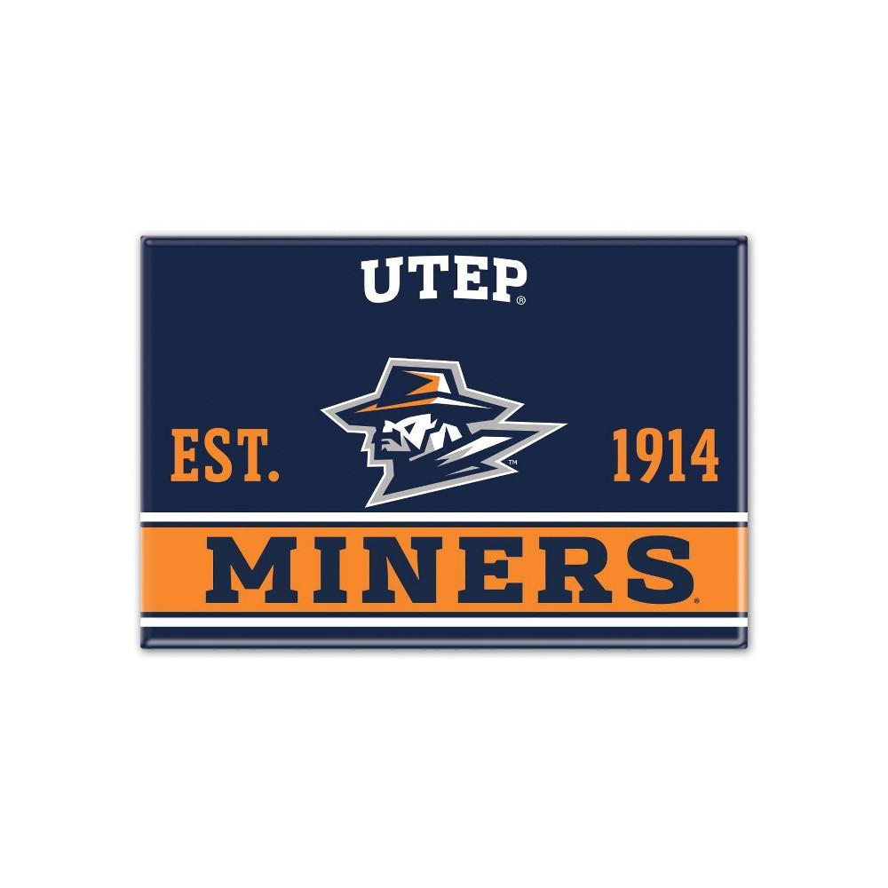 NCAA Utep Miners Fridge Magnet