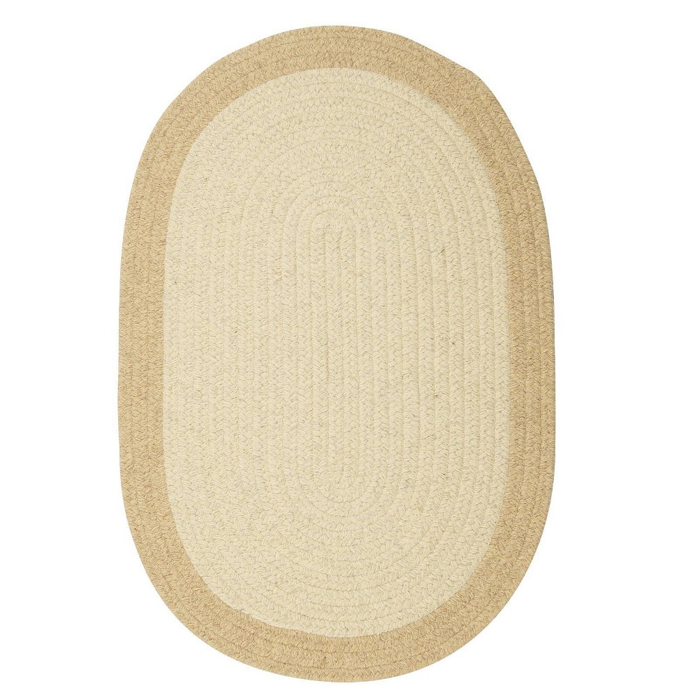 Round Malibu Border Braided Area Rug Natural
