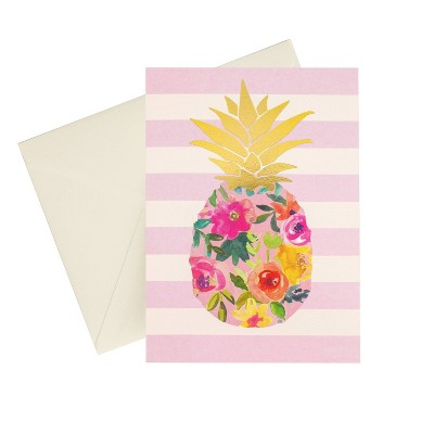 24ct Metallic Pineapple Blank Cards