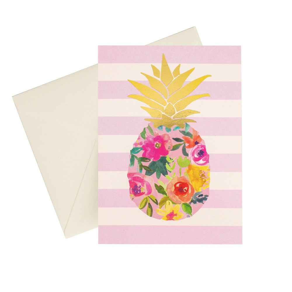 24ct Metallic Pineapple Blank Cards Reviews