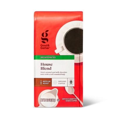 House Blend Medium Roast Ground Coffee - Decaf - 12oz - Good & Gather™