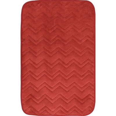 "20""x30"" Indulgence ZigZag Bath Mat Brick - Home Dynamix"