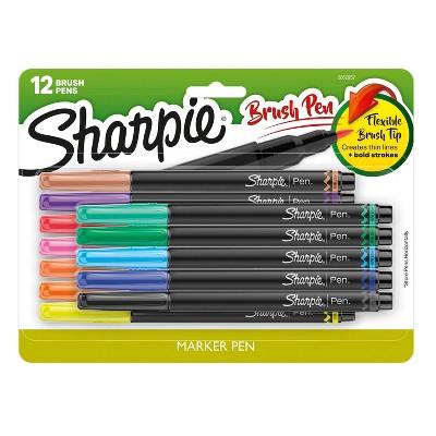 Sharpie 12pk Marker Pens Brush Tip 1.4mm Multicolor