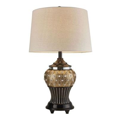 "OK Lighting 28.75""H Gold Max Table Lamp"