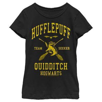 Girl's Harry Potter Hufflepuff Quidditch Seeker T-Shirt
