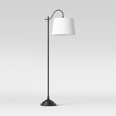 Floor Lamp Metal (Includes LED Light Bulb) Black - Threshold™