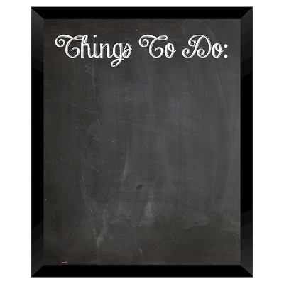 Things To Do Chalkboard - Black