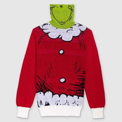 Men's Dr. Seuss' The Grinch Pullover Sweater - Red
