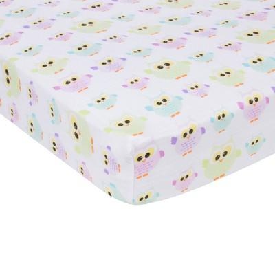 MiracleWare Owls Muslin Crib Sheet