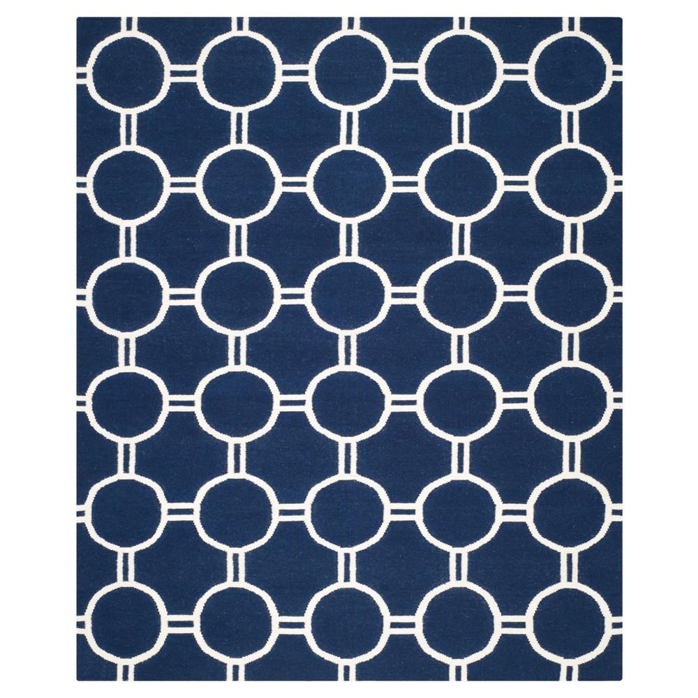 Dhurries Rug - Navy/Ivory (Blue/Ivory) - (8'x10') - Safavieh