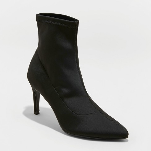 a7e2dd704d Women's Cady Pointed Stiletto Sock Booties - A New Day™ : Target