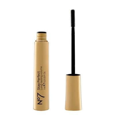 No7 Mascara Stay Perfect Waterproof Long Wear Tubular Black - 0.23 fl oz