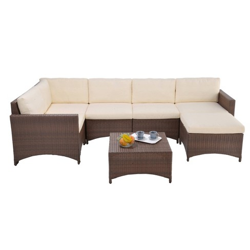 3pc studio shine collection with modular sectional sofa coffee table ottoman w unlimited