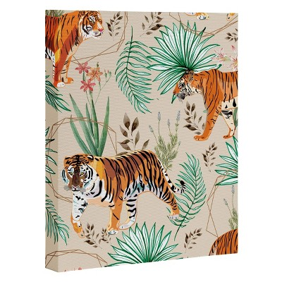 """8"""" x 10"""" 83 Oranges Tropical and Tigers Unframed Wall Canvas Art - Deny Designs"""